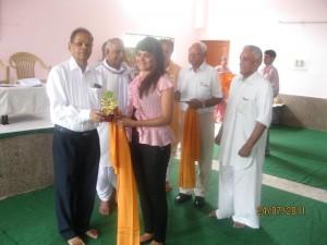 Only YOUTH ORGANISATION to be awarded at Seva Bharti's Award Ceremony by Hon. Mr. K.N Pathak, Retd. V.C, P.U ,Chandigarh