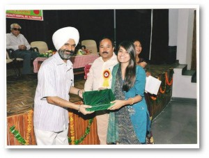 Awarded by GMCH -16 Chandigarh for contribution towards blood donation