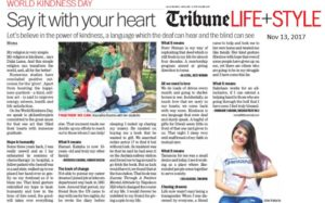 THE TRIBUNE , LIFESTYLE CHD  Dt.13th November 2017 PAGE 1