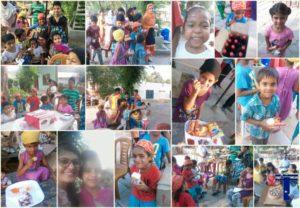 Celebrations with Children at Guru Aasra Shelter Home