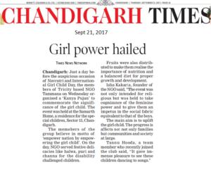 Chandigarh Times, Pg 5, sept 21, Kanya pujan