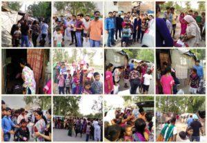 Distribution of Groceries etc. at Slum, Sector 25 Chandigarh