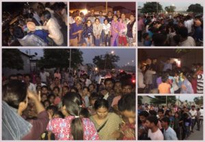 During Distribution Drive at Khajeri Slum Chandigarh