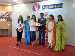 Founder Isha Kakaria gets awarded at 'Wah Womania' Award Function by 94.3 My FM Chandigarh on the occasion of Women's Day'18 (08th March 2018)