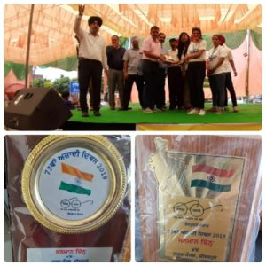 NGO TAMMANA was honoured by Municipal Corporation, Zirakpur at the Independence Day 2019 for its contributions towards the development of the children of the Government School, Singhpura, Punjab.