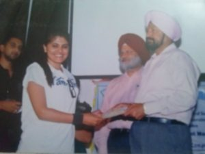 Honour by Punjab University to NGO Tammana for participating in the women's Self Defence programme.