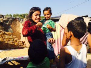 Sharing Brushing Techniques & distribution of Dental & hygeine kits at Slum, Sector 25 Chandigarh