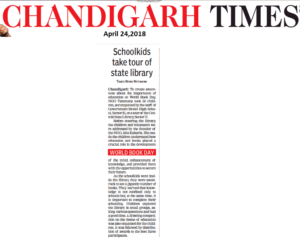 The Times of India, Chd Times, Pg 2, Event 96, April 24,2018