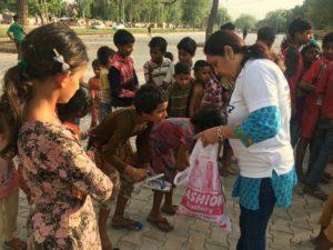 Distribution activity for the stock @ Slum, Sector 25 Chandigarh
